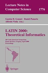LATIN 2000: Theoretical Informatics